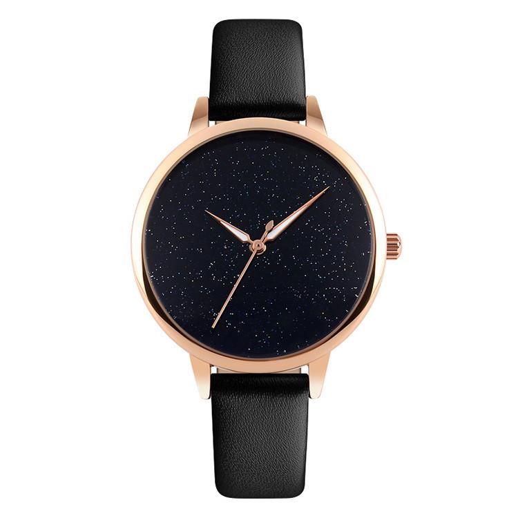 Skmei 9141 moon черные женские  часы