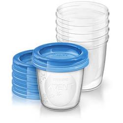 Контейнери для зберігання грудного молока Philips Avent, 5 шт. х 180 мл (SCF619/05)