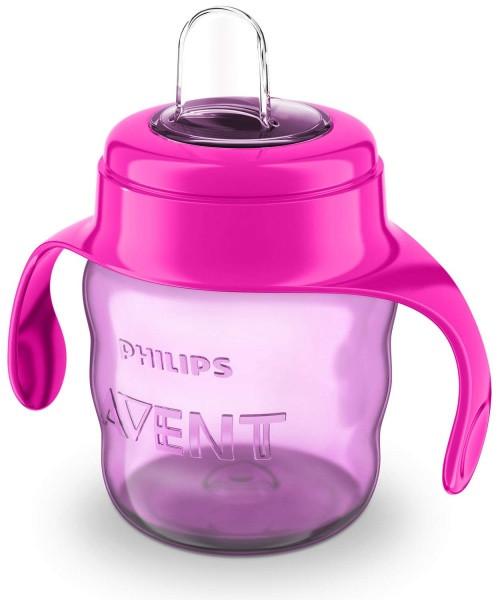 Чашка с мягким носиком и ручками Philips Avent 6+, розовый, 200 мл (SCF551/03)