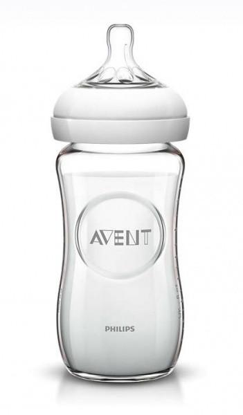 Стеклянная бутылочка для кормления Philips Avent Natural, 240 мл (SCF673/17)