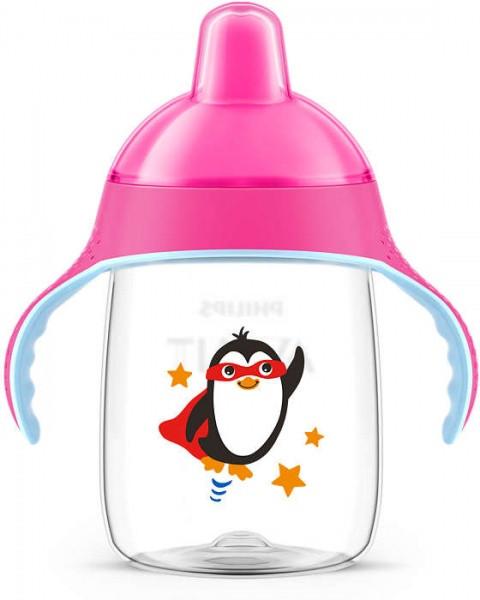Чашка з носиком Philips Avent 18+, рожевий, 340 мл (SCF755/00)
