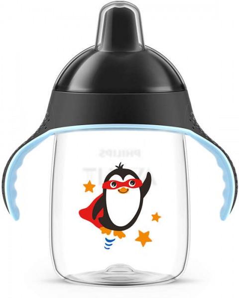 Чашка с носиком Philips Avent 18+, черный, 340 мл (SCF755/00)