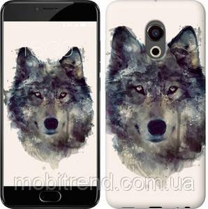 Чехол на Meizu Pro 6 Волк-арт