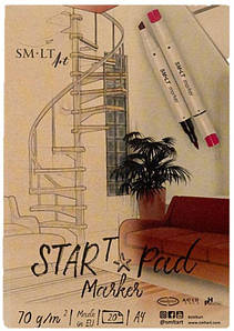 Склейка для маркеров STAR T А4, 70г/м2, 20л, SMILTAINIS