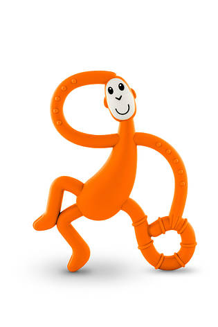 Игрушка-прорезыватель Matchstick Monkey Танцующая Обезьянка (цвет оранжевый, 14 см), фото 2