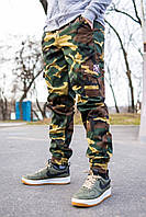 """Мужские штаны карго спортивные Cargo """"REXTIM"""" Woodland Camo. Живое фото. Топ реплика ААА+"""