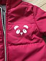 Курточка весна-осень для девочки «Панда» размеры 74, 80, 86, 92, фото 3