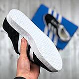 Женские черные кроссовки  стиле Adidas Gazelle, женские кроссовки адидас газель (Реплика ААА), фото 5