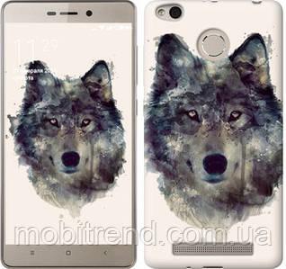 Чехол на Xiaomi Redmi 3s Волк-арт
