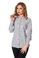 Стильна  жІноча блуза в полоски . Р-ри 42-52