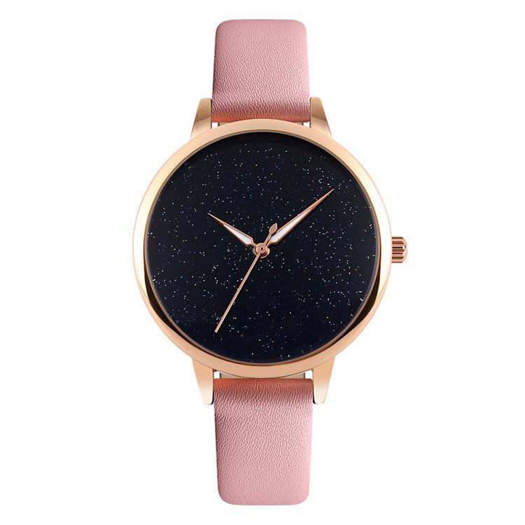 Skmei 9141 moon розовые женские часы