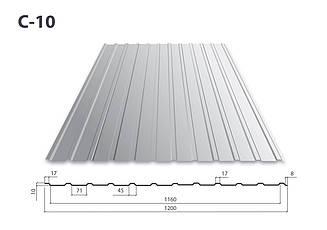 Профнастил С-10 цинк (0.4)
