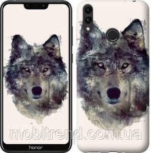 Чехол на Huawei Honor 8C Волк-арт