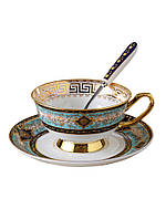 Чашка с блюдцем костяной фарфор кофейная чайная, чайные кофейные наборы на 2, 4, 6 персон, Posy Milano