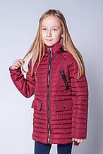 Красивая подростковая деми куртка девичья 134-140