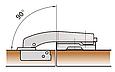 Петля 180 * равнолежащая  Slide-on GIFF D=35 никель, фото 2
