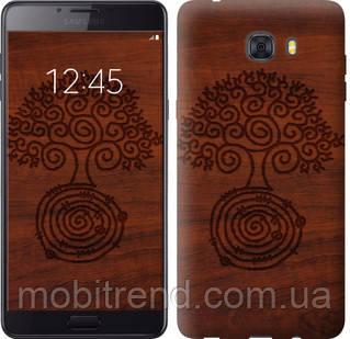 Чехол на Samsung Galaxy C9 Pro Узор дерева