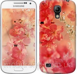 Чехол на Samsung Galaxy S4 mini Розовые цветы