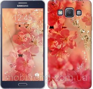 Чехол на Samsung Galaxy A5 A500H Розовые цветы