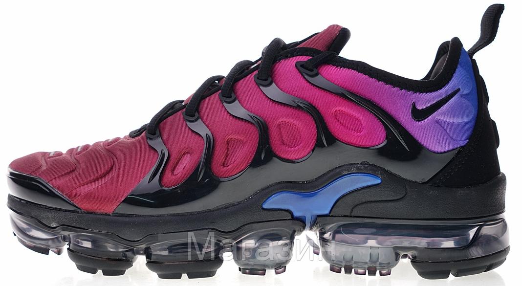 Мужские кроссовки Nike Air Vapormax Plus Black/Hyper Violet (Найк Вапормакс) фиолетовые
