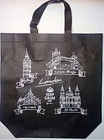 """Еко сумка standart """"London"""" з замком, ручка 400мм  385х320х120*25"""
