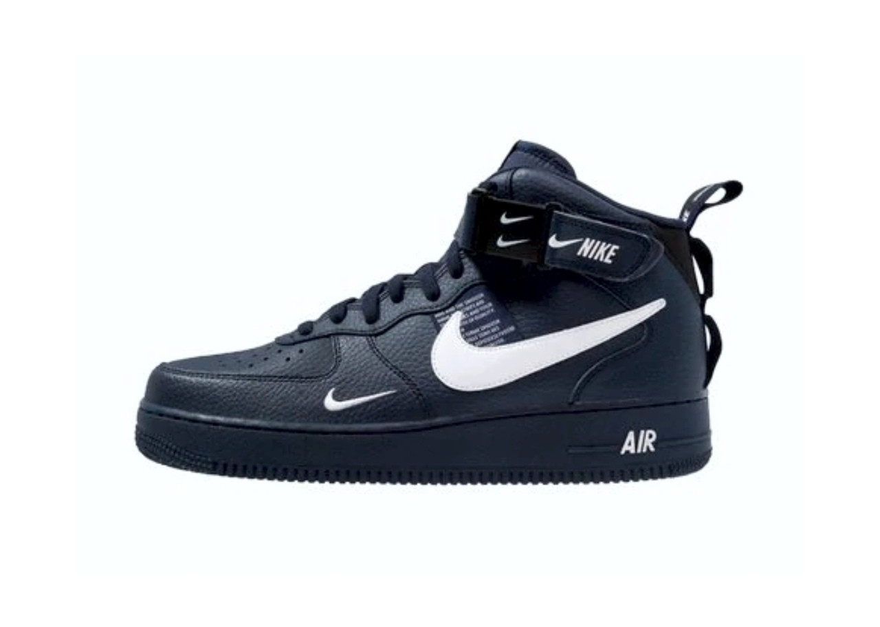 0ea9f90e Мужские кроссовки Nike Air Force 1 LV8 HIGH (в стиле Найк) черные, кожа