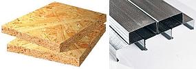 Снижение цен на г/к профиль, потолочные плиты, плиты OSB.
