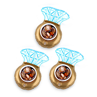 Надувні підставочки Modarina Кільце з діамантом 18 см Золото NW3008