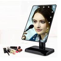Зеркало для макияжа Magic Makeup Mirror с 22 LED-подсветкой Чёрный, фото 1