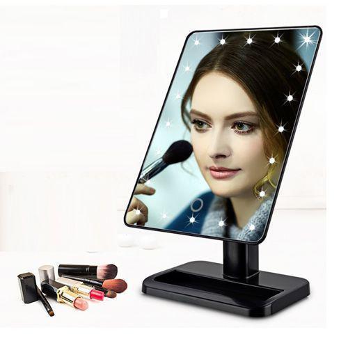 Зеркало для макияжа Magic Makeup Mirror с 22 LED-подсветкой Чёрный