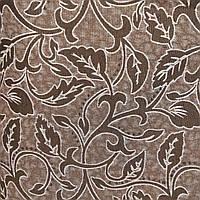 Мебельная ткань гобелен-шенилл перетяжка мягкой мебели стульев ширина 150 см сублимация 2010 коричневый