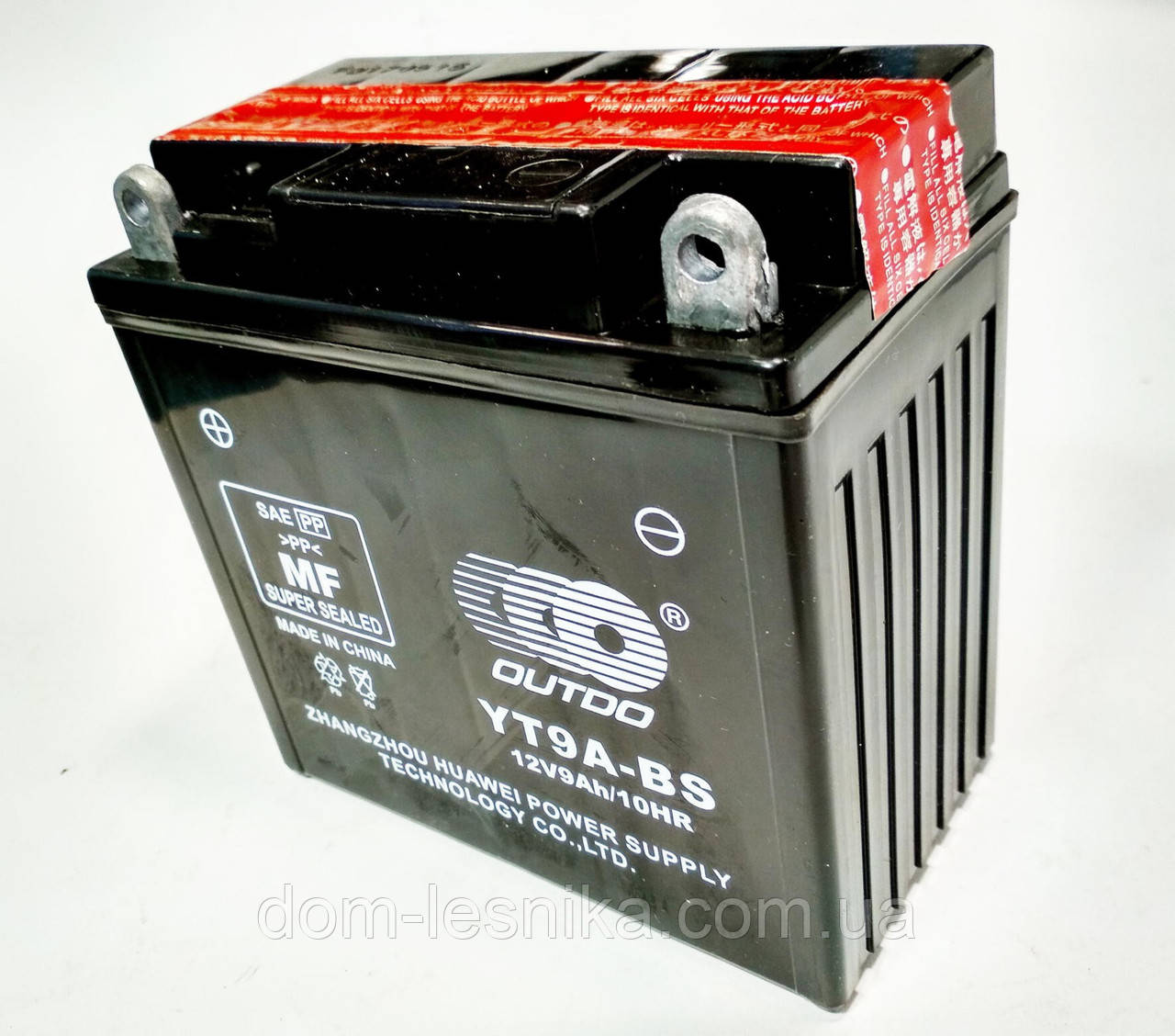 Аккумулятор 12V 9Аh YTX9A-BS 135/75/135 мм (кислотный) высокий