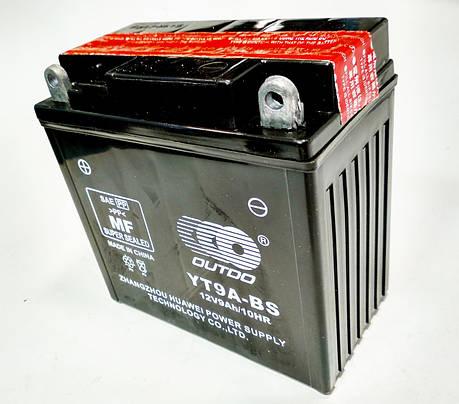 Аккумулятор 12V 9Аh YTX9A-BS 135/75/135 мм (кислотный) высокий, фото 2