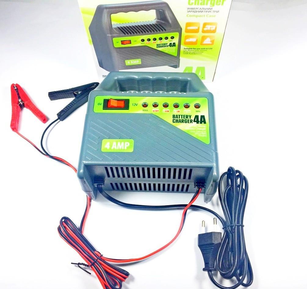 Зарядное устройство 6v/12v 4 Amp импульсное, универсальное