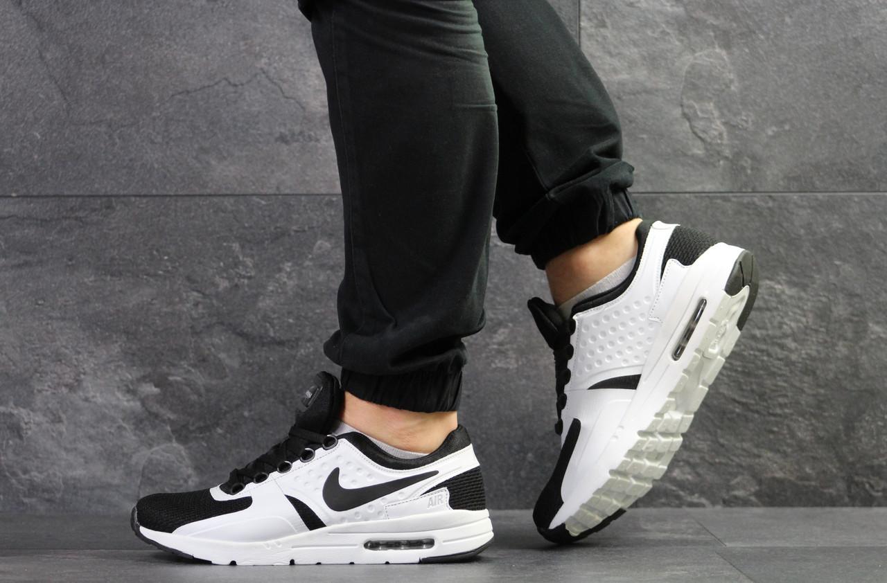 bf9a2b39 Кроссовки мужские Nike Air Max Zero, белые с черным (Реплика) - Интернет-