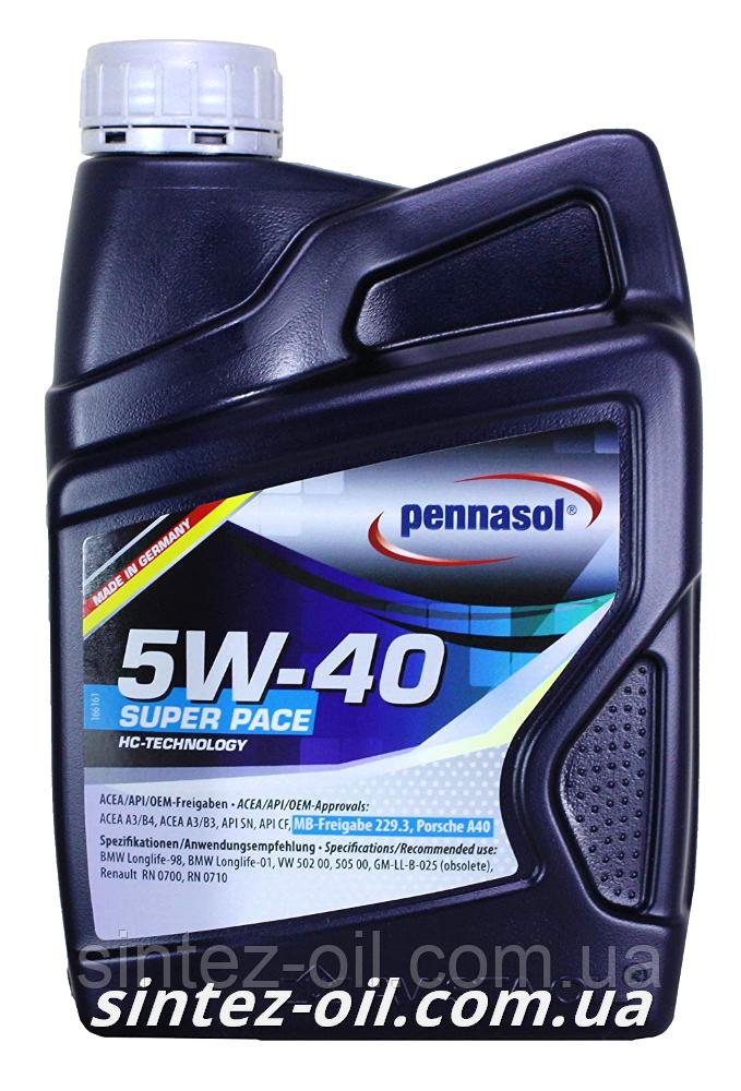 Масло моторное PENNASOL SUPER PACE SAE 5W-40 (1л)