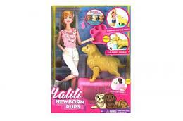 "Кукла Барби с беременной собакой ""Yalili: Newborn Pups"""