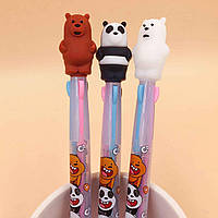 Авторучка 3 цвета Три медведя 8063-B-0104