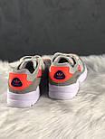 Женские кроссовки Adidas yung 96 white grey orange. Живое фото (Топ реплика ААА+), фото 3