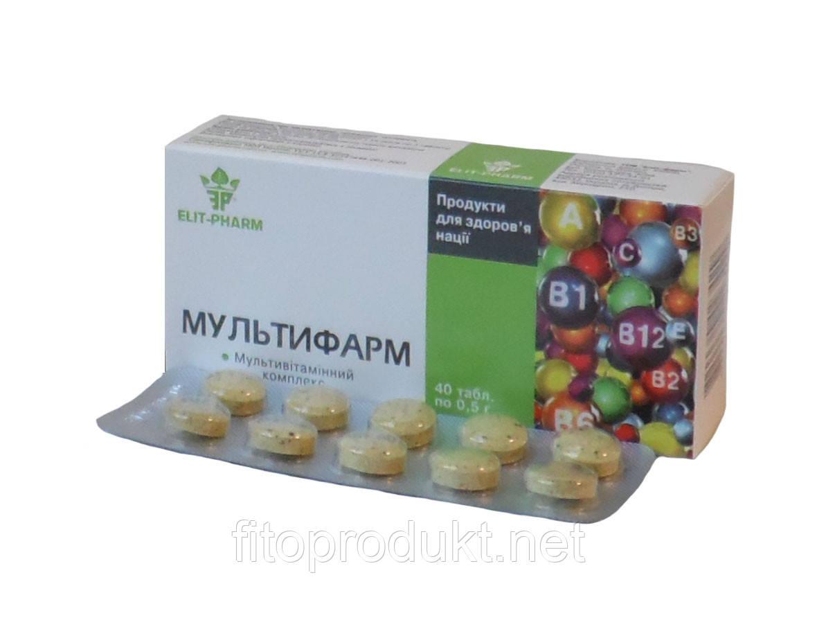 Мультифарм мультивитаминный комплекс №40 Элит-фарм