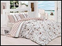 Комплект постельного белья First Choice бязь Eliza kahve полуторка(kod 3501)