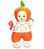 Кукла мягкая, музыкальная  (Пупс в оранжевом)