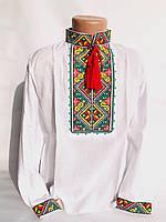 Вышиванка для мальчика с цветным орнаментом