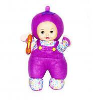 Кукла мягкая, музыкальная  (Пупс в фиолетовом)