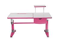 Парта-трансформер для школьника FunDesk Ballare Pink с полкой и выдвижным ящиком
