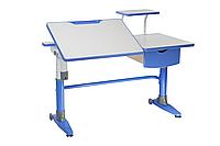 Парта-трансформер для школьника FunDesk Ballare Blue с полкой и выдвижным ящиком