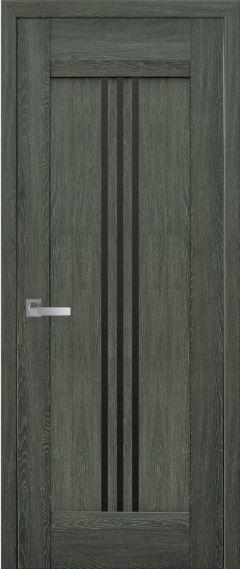 Дверь межкомнатная с чёрным стеклом RACE