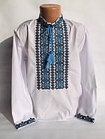 Вышиванка белая для мальчика с орнаментом