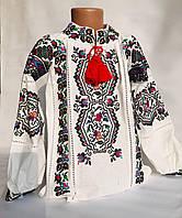 Вышиванка для девочки с украинским орнаментом