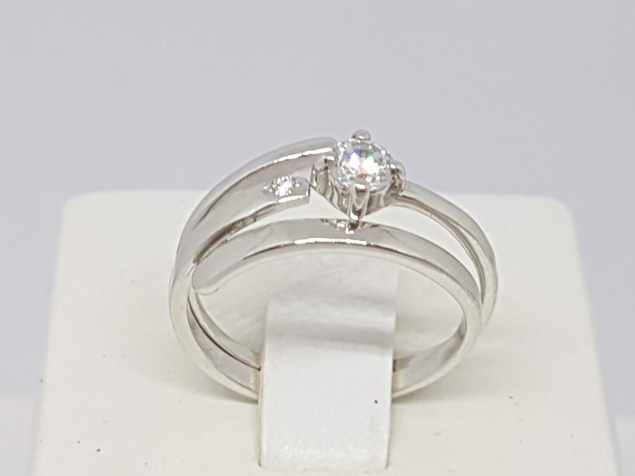 Серебряное кольцо 2 в 1. Артикул 1539Р
